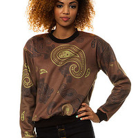 Civil Sweatshirt Paisley Crewneck in Brown