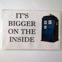 "Doctor Who Magnet, TARDIS ""It's Bigger on the Inside"" Fridge Magnet"