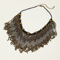 Free People Metal Ombre Bead Collar
