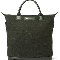 WANT Les Essentiels de la Vie O'Hare Leather-Trimmed Tweed Tote Bag | MR PORTER