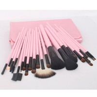 23pcs Pink Professional Cosmetic Makeup Make up Brush Brushes Set Kit With Bag Case:Amazon:Beauty