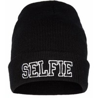 New Look Mobile | Black Selfie Beanie