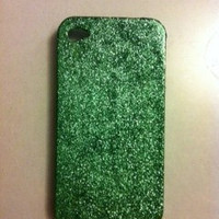 Green Glitter iPhone 4 4s Hard Case by kaylafenton on Etsy