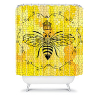 DENY Designs Home Accessories | Lisa Argyropoulos Queen Bee Shower Curtain