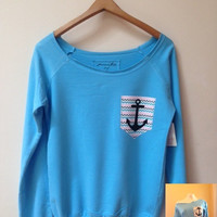 French Terry Boat-Neck Sweatshirt