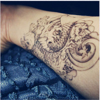 Tattoo temporary Long lasting tattoo  fish tattoo by TattooKorea