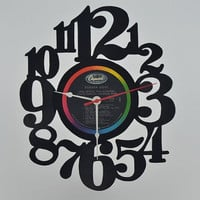 Vinyl Record Wall Clock (artist is The Beatles)