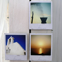 Polaroid Magnets / Memories In Greek Colors - Make A Set Of Four | Luulla