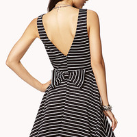 Seaside Stripes Fit & Flare Dress | FOREVER 21 - 2000051619