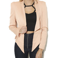Ruffle Side Blazer | Shop Outerwear at Arden B