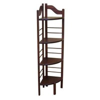 Manchester Wood 657.2 4-Tier Corner Baker's Rack in Chestnut