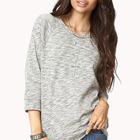 Off-Duty Heathered Sweatshirt | FOREVER 21 - 2000128233