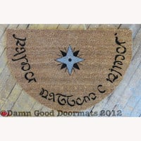 Elvish LOTR Hobbit Tolkien  Speak Friend and by DamnGoodDoormats