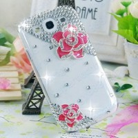 New Handmade Peach Rose 3D Bling Crystal Case Cover For Galaxy S3 i9300 0791:Amazon:Cell Phones & Accessories