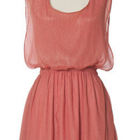Trendy & Cute Clothing - Chloe Loves Charlie - Metallic Rose Tunic Dress - chloelovescharlie.com | $37.00