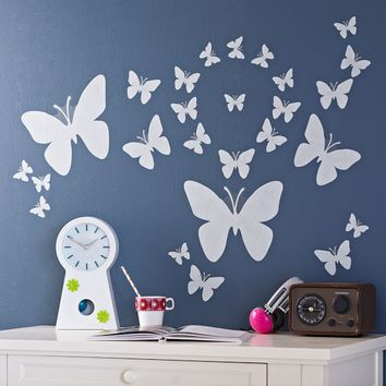 Butterfly Stencil Icon Decal