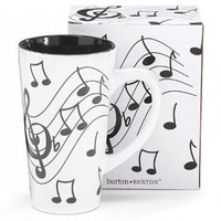Jazz It up Tall Ceramic Mug Musical Notes Holds 16 Oz:Amazon:Kitchen & Dining