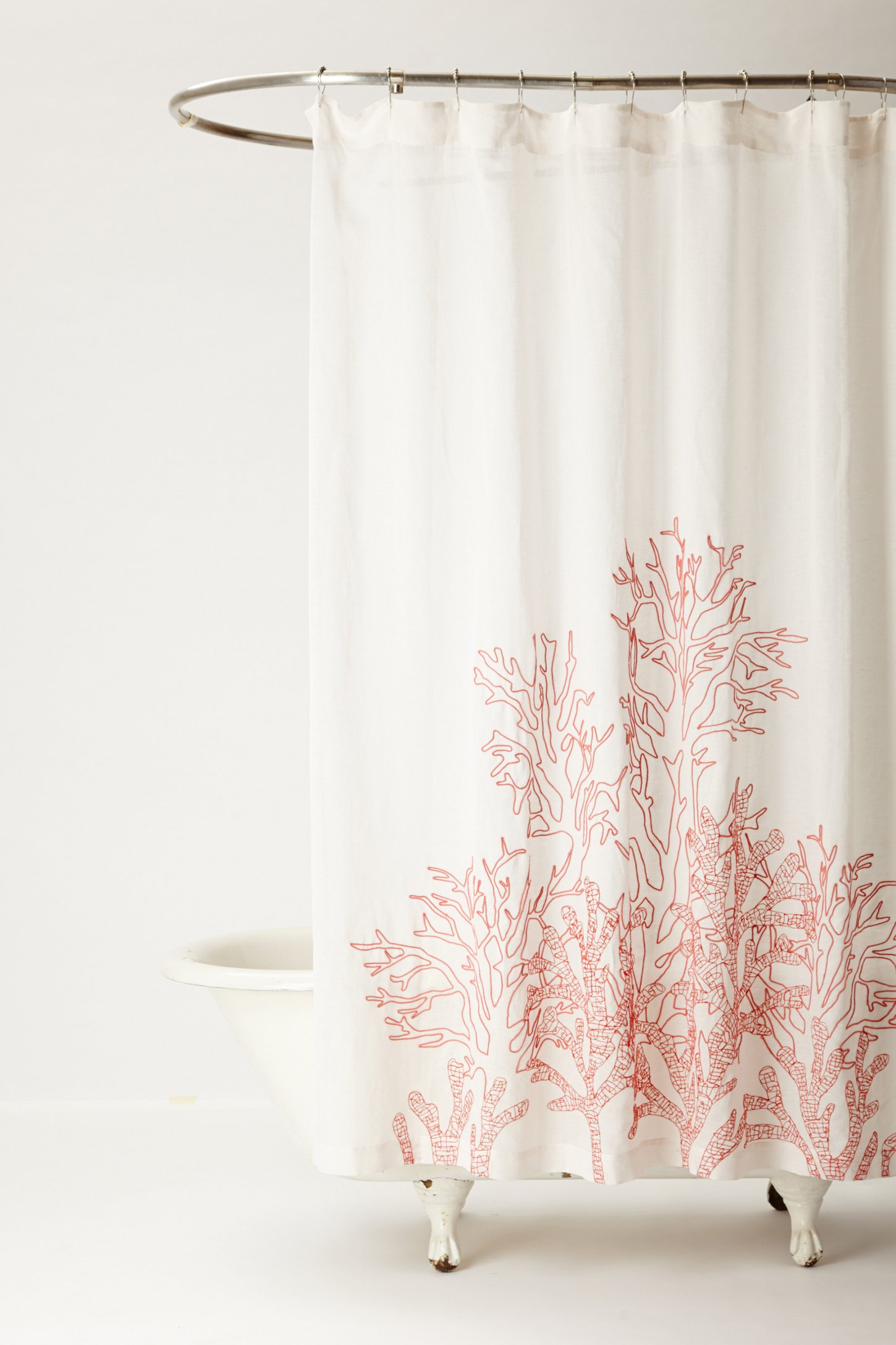 Climbing Coral Shower Curtain From Anthropologie Just Cool