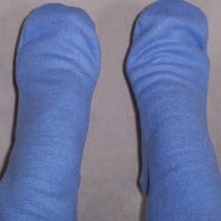 Blue Polar Fleece Socks, Women's warm socks, Handmade Gift