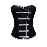 ND-137 - Black Corset with Button Down Placket