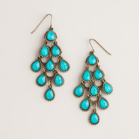 Turquoise Crystal Chandelier Earrings | World Market