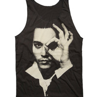 Johnny Depp Tank Top American Actor Artist Rock by StudioMFshop