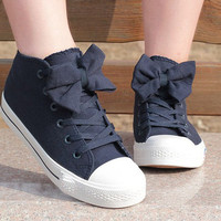 00-Bow Canvas Shoes-77-05-0-6
