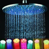 7 Colors Changing LED Shower Head Romantic Light Home Bathroom Showerhead:Amazon:Home Improvement