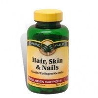 Hair, Skin and Nails Collagen Support Vitamins 120 count:Amazon:Health & Personal Care