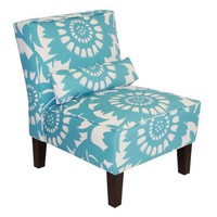 Skyline Furniture Armless Chair in Gerber, Surf