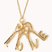 Love Keys Necklace | FOREVER 21 - 1077054633