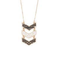 With Love From CA Black And White Tribal Chevron Necklace at PacSun.com