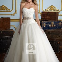 Ball Gown Sweetheart Beading Organza Sweep Train Wedding Dress at Dresseshop