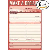 Knock Knock Note Pad, Make A Decision (Pack of 6)