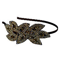 Elle Gold/Bronze Beaded Applique Headband Ulta.com - Cosmetics, Fragrance, Salon and Beauty Gifts