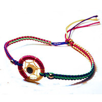 Neon DreamCatcher Bracelets in Woven Bright Colors