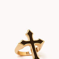 Edgy Cross Ring