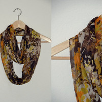 SALEAutumn color Donut silk scarf Amber by RedRhinoProductions