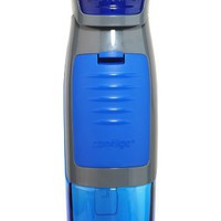 Contigo AUTOSEAL Kangaroo Water Bottle with Storage Compartment, 24-Ounce, Blue