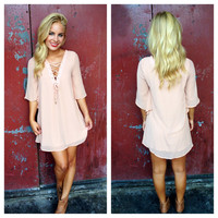Blush Pink Chiffon Katie Dress