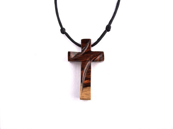 Amazoncom cross wooden necklace