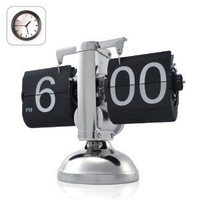 Niceeshop Retro Flip Down Clock - Internal Gear Operated