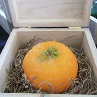 Tangerine Orange Fruit Soap in Wooden box by Scentcosmetics