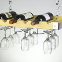 Wine Bottle &amp; Glass Ceiling Wall Mount $67.50