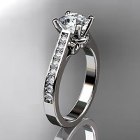 platinum diamond unique engagement ringwedding by anjaysdesigns