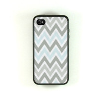 Iphone 4s Case  Gray Mist Chevron Iphone case by fundakiphonecases
