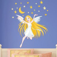 Fairy Good Night Wall Sticker - Great Girls Room Decoration - Wall Decals | My Wall Decal Shop | Decorating Ideas & Wall Stickers