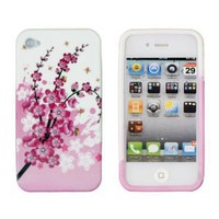 Amazon.com: Pink Cherry Blossoms Flexible Gel Case for Apple iPhone 4, 4S (AT&T, Sprint & Verizon): Cell Phones & Accessories