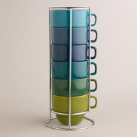 Cool Ombre Stacking Mugs, Set of 6 | World Market