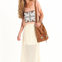Fields of Lace Maxi Skirt by Lucca Couture - $82.00 : ThreadSence.com, Your Spot For Indie Clothing & Indie Urban Culture